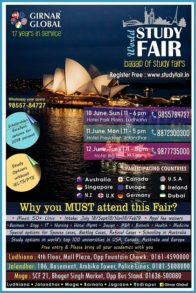 World Study Fair: Baap of Study Fairs Being Organised in Punjab